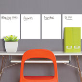 Wallies Set 4 Dry Erase Peel and Stick Decals