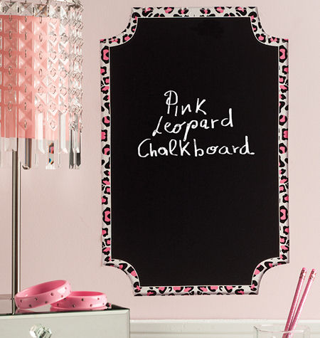 Wallies Pink Leopard Chalkboard Wall Decal