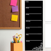 Chalkboard Weekly Calendar Peel and Stick Decal