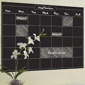 Chalkboard Monthly Calendar Peel and Stick Decal