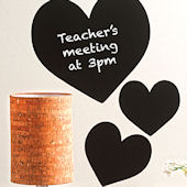 Chalkboard Hearts Peel and Stick Decal