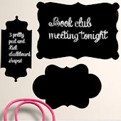 Chalkboard Shapes Peel and Stick Decal