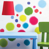Wallies 3 D Dots Peel and Stick