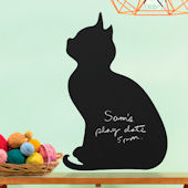 Wallies Kitty Chalkboard Wall Decal