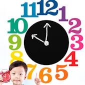 Wallies Teaching Time Clock Chalkboard Wall Decal