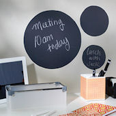 Set of Three Chalkboard Circle Decals