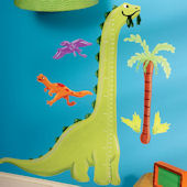Dino Growth Chart Wall Decals