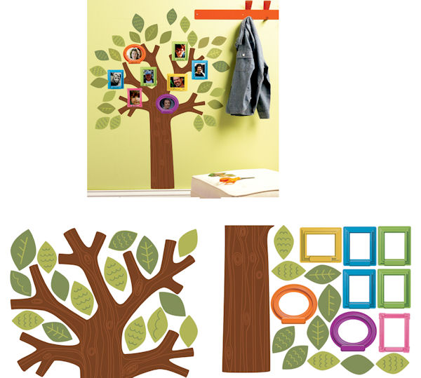 Fun Family Tree Wall Decals - Wall Sticker Outlet