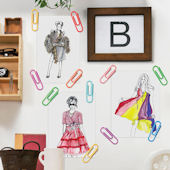 Wallies Hang It Up Paper Clip Wall Decals