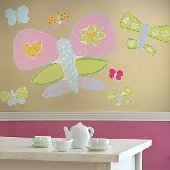 Wallies Jennys Butterflies Big Wall Mural