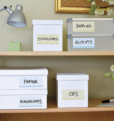 Set of 10 Modern Dry Erase Peel and Stick Labels - Wall Sticker Outlet
