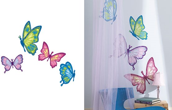 Wallies Butterflies Prints Mural - Wall Sticker Outlet