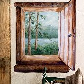 Wallies Cabin Window Wall Mural