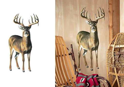 Wallies Deer Wall Mural