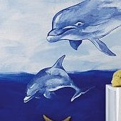 Wallies Dolphins Mural