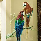 Wallies Parrots Wall Mural
