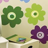 Wallies Pop Flower Wall Mural