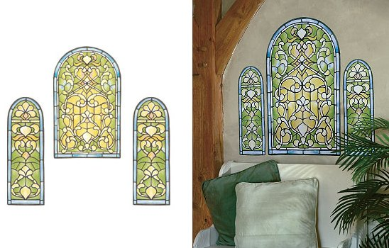 Wallies Stained Glass Wall Mural