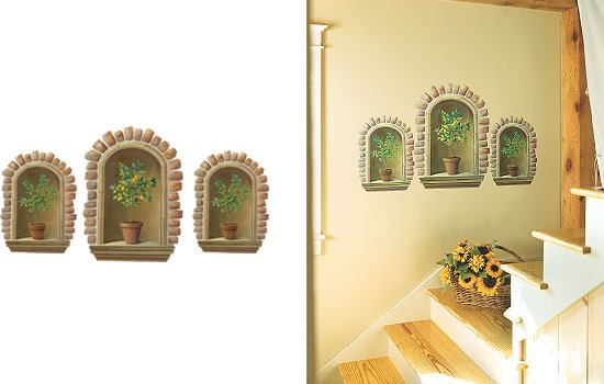 Wallies Topiary Alcove Wall Mural