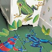 Wallies Tree Frogs Mural
