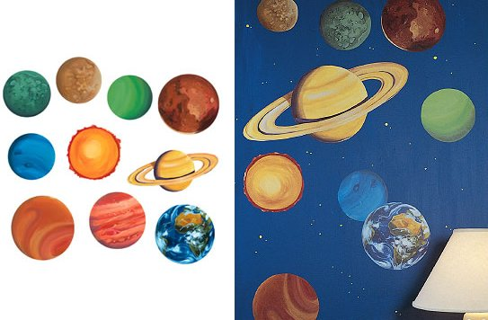 Wallies Planets Wall Mural