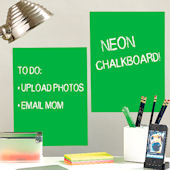 Neon Green Peel and Stick Chalkboard 2 Sheets