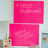 Neon Pink Peel and Stick Chalkboard 2 Sheets