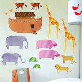Wallies Noahs Ark Peel and Stick Wall Decal