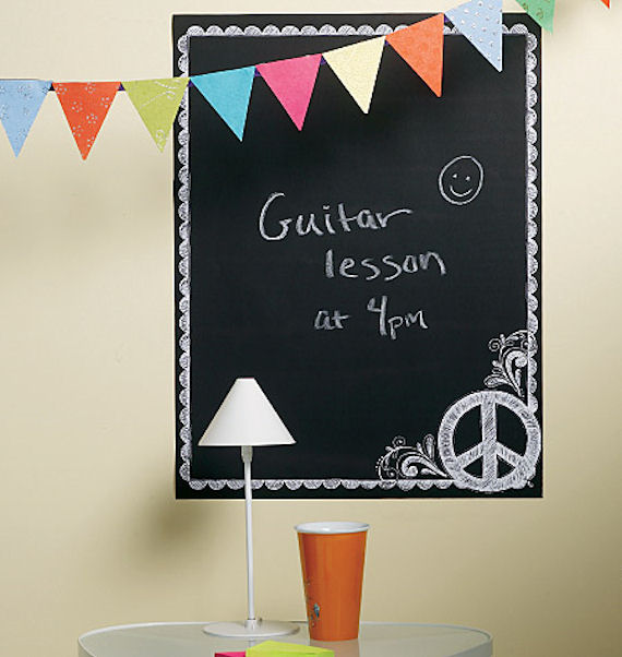 Wallies Peace Peel and Stick Chalkboard - Wall Sticker Outlet