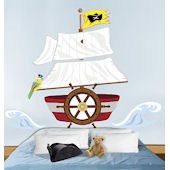 Wallies Pirate Headboard Peel and Stick