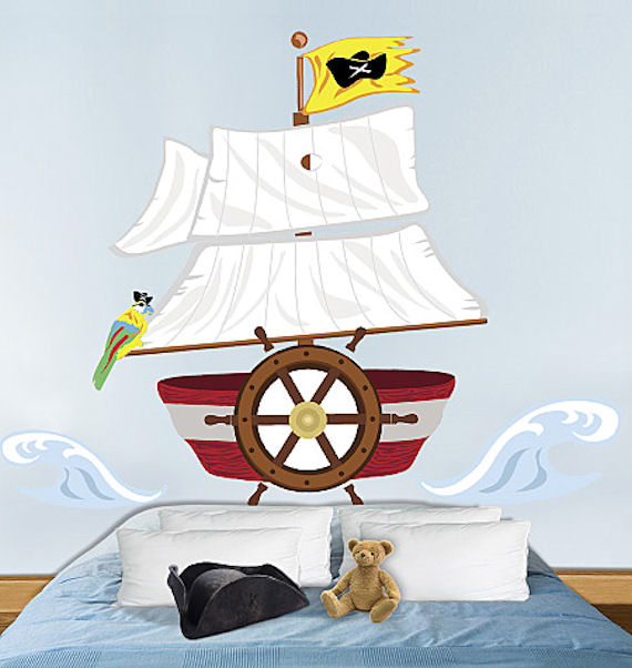 Wallies Pirate Headboard Peel and Stick - Wall Sticker Outlet