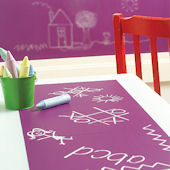Wallies Purple Chalk Board Set Of 4 Wall Decals