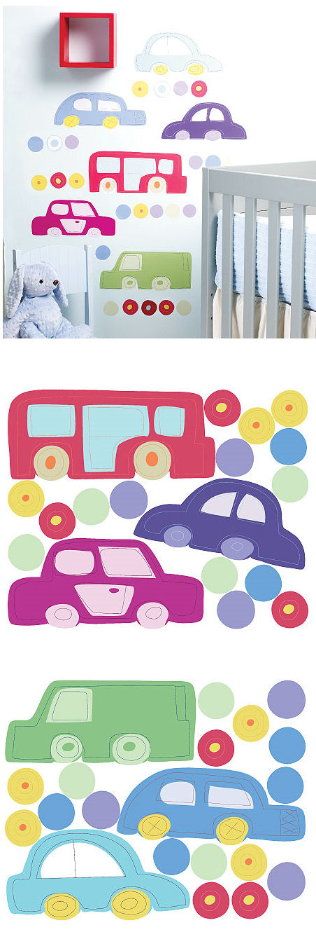 Riding Around Peel and Stick Decals - Wall Sticker Outlet