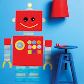 Wallies Robot Peel and Stick Wall Decal