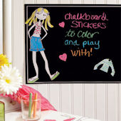 Ruby Dress Up Chalkboard Decal