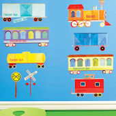 Train Ride Wall Decals