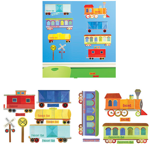 Train Ride Wall Decals - Wall Sticker Outlet
