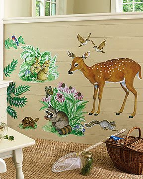 Wallies Woodland Animals Big Wall Mural - Wall Sticker Outlet