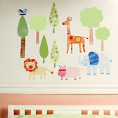 Zoo Baby Peel and Stick Decals