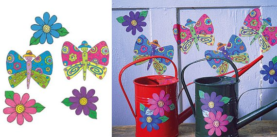 Wallies KP Kids Butterfly Garden Cutouts - Kids Wall Decor Store