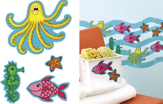 Wallies KP Kids Sea Creatures Cutouts - Kids Wall Decor Store