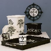 Wallies Anna Griffin Black White Toile Baskets