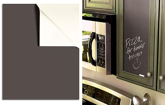 Slate Gray Chalkboard Wall Stickers - 2 Sheets - Wall Sticker Outlet