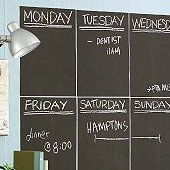 Slate Gray Chalkboard Wall Stickers - 4 Sheets