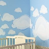 Wallies Clouds Big Wall Mural