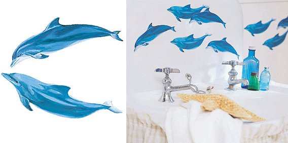 Wallies Dolphins Cutouts - Kids Wall Decor Store