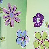 Wallies Doodle Flowers Cutouts
