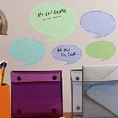 Wallies Dry Erase Quotes Stickers