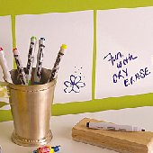 Wallies Dry Erase Square Stickers