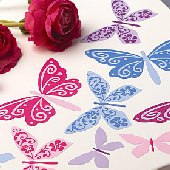 Wallies Flutterbyes Vinyl Decals